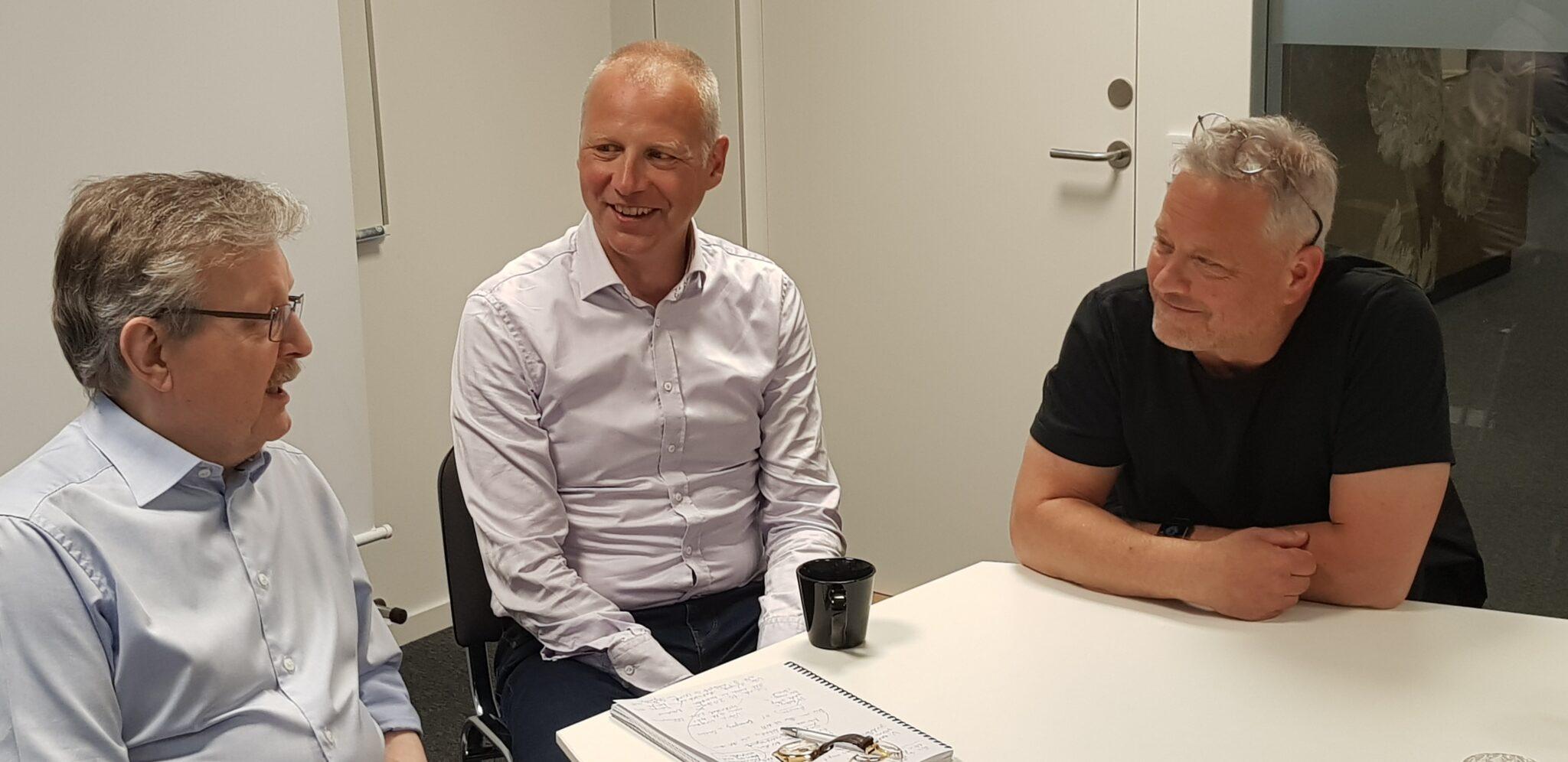 KarlErik Edris, Fredrik Lidman och Daniel Lundqvist under inspelningen av avsnitt 5.